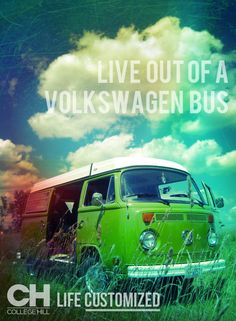 Live out of a Volkswagen Bus. #LifeCustomized