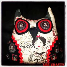 Navy Wifey Peters Aboard the USS Crafty: Macabre Mademoiselle Owl Pillows