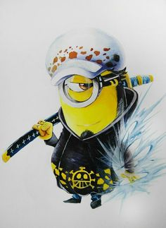 Minion-Law! Hahahahaha!  #themostbadassminion #OnePiece  From http://www.pinterest.com/onepiecemanga/one-piece/