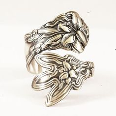 Stargazer Lily Ring Flower Ring Sterling Silver Spoon by Spoonier