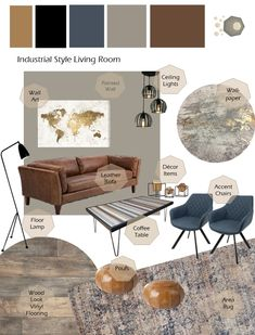 Brown And Gold Living Room, Living Room Grey, Home Living Room, Tan Sofa Living Room Ideas, Interior Design Living Room, Living Room Designs, Living Room Decor, Home Design, Grey Interior Design