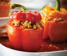 Stuffed Peppers With Ground Turkey Recipe from Nadia G
