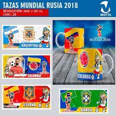 sublimation templates World Cup Fifa Russia 2018 - Copa Mundial Fifa Rusia 2018 - Plantillas Tazas Fifa - Diseños Sublimación Rusia #mottaplantillas