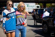 New York Fashion Week SS 2016 Street Style: Caroline Vreeland and Shea Marie
