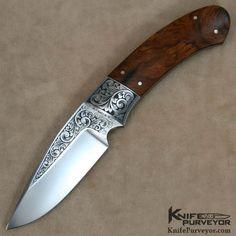Dr. Fred Carter Custom Knife Sole Authorship Engraved Desert Ironwood Hunter - Dr. Fred Carter custom knife - image 1