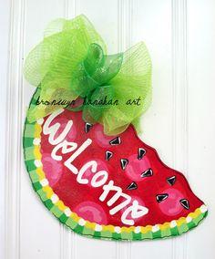 Sweet Slice of Summer Door Hanger - Bronwyn Hanahan Original. $50.00, via Etsy.