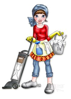 digital stamp by Cute As A Button - digital coloring by Sherry Cleaning Service Flyer, House Cleaning Services, Stylo 3d, Cleaning Business, Cleaning Logos, Illustration, Holly Hobbie, Picture Logo, Digi Stamps