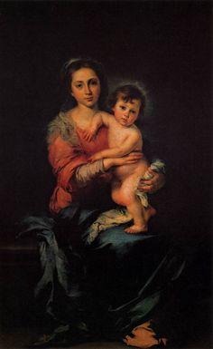Virgin with Child - Bartolome Esteban Murillo