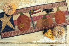 Seasonal Fall Runner from Winterberry Cabin, a Buttermilk Basin Design  12x36