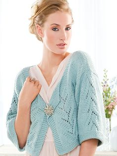 If you're ready to move into the world of knitted garments, this cardigan is the perfect next project. With no complex shaping, this piece integrates an easy lace panel and simple stockinette stitching. This e-pattern was originally published in the Spring 2013 issue of Creative Knitting magazine. Size: Includes Woman's S through 2XL. Made with medium (worsted) weight yarn and U.S. sizes 8/5mm and 9/5.5mm needles. Skill Level: Easy