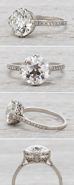 Bague Diamant – Tendance : Art Deco vintage engagement ring with a Carat Diamond Circa Vintage Diamond, Vintage Rings, Vintage Jewelry, Vintage Art, Vintage Style, Antique Art, Best Engagement Rings, Antique Engagement Rings, Indian Engagement