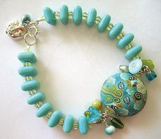 Cristi's Bracelet with Polymer Clay Bead