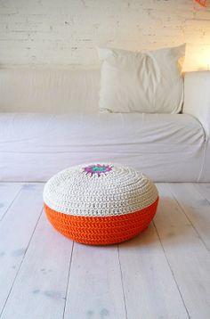 Floor Cushion Crochet    Spring por lacasadecoto en Etsy, €50.00