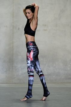 7410e789ce1a1 WOMENS LEGGINGS Niyama Sol Bad Moon Rising Endless Legging Funky Leggings, Yoga  Leggings, Best