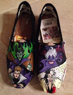 Disney Villain Toms featuring Cruella de Ville by alexandrialeigh1, $200.00  some people are just so talented!!!!!
