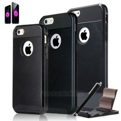 For iPhone 6 / 6 Plus / 5 5S Ultra-thin Hybrid Shockproof Hard Case Cover +Stand #Pandamimi