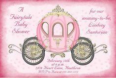 Fairytale Coach Baby Shower Invitation – Princess Royal Event