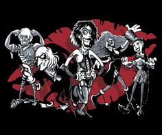 This Rocky Horror Characters shirt displays the movie's oddball cast. Wear this Rocky Horror Picture Show t-shirt to a midnight movie screening. Rocky Horror Characters, Fictional Characters, Goth Glam, Red Dwarf, Group Of Five, The Rocky Horror Picture Show, Monty Python, Book Tv, Good Movies