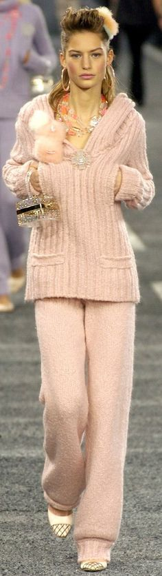 Chanel ~ Peach Knit Sweater + Pant 2004-05