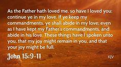 Daily Bible Verse John 15:9-11