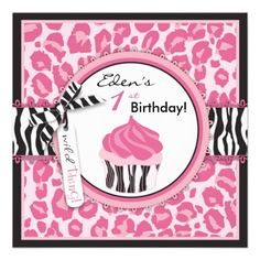 Wild Cupcake CP Invitation Square