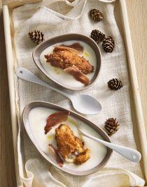 Croquettes de pommes de terre coulantes à la crème de topinambours