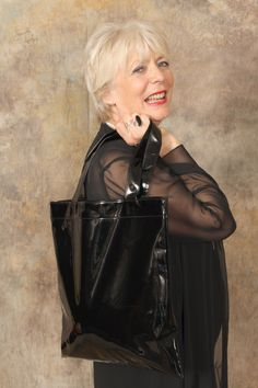 """Alison Steadman says """"Use this bag anytime. I even took it on a black tie outing"""" Photo courtesy ang-photography Ways To Fundraise, Leather Box, Donate To Charity, Black Tie, Are You The One, Fundraising, Actors & Actresses, Charlotte, Sexy"""