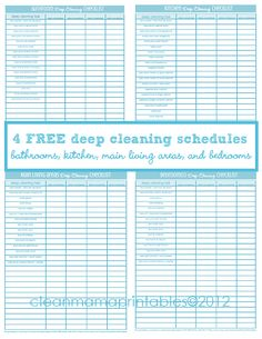 Deep Cleaning + 4 FREE Printables