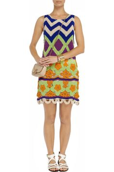 Летнее платье крючком от Moschino.  Moschino Cheap and Chic. Crocheted cotton mini dress. #crochet_summer_dress   #crochet_flowers