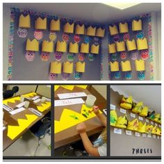 """Thanks to """"Teaching 2 and 3 year olds"""" for this idea! A creative way of setting up your birthday chart and the children can decorate their crown ready for their birthday."""