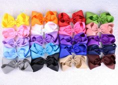 """Lot  20pcs  4""""  Girl  Baby  toddler  child  solid  Boutique Hair Bows Clips #miniangel"""