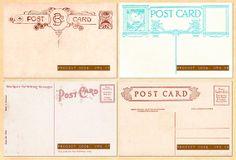 Vintage Postcard Backs Set 2