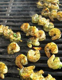 Cilantro Pesto Grilled Shrimp - Cook'n is Fun - Food Recipes, Dessert, & Dinner Ideas