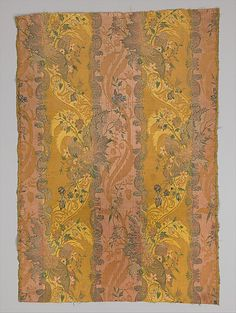 Silk damask brocaded with colored silks and metal threads, Italy, c. 1715. Collection Metropolitan Museum of Art.
