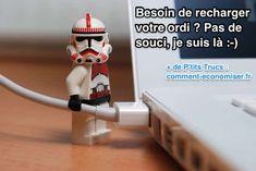 Lego en train de recharger macbook