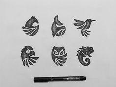 Ideas Sport Logo Animal For 2019 Graphisches Design, Icon Design, Sport Design, Free Logo Design, Branding Design, Creative Logo, Buho Logo, Logo D'art, Pet Logo