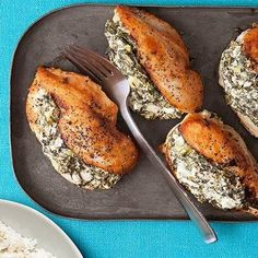 The Best Healthy Recipes: Spinach and Feta Stuffed Chicken workout plans, workouts #workout #fitness