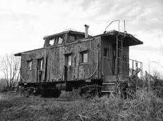 Un viejo vagón abandonado.
