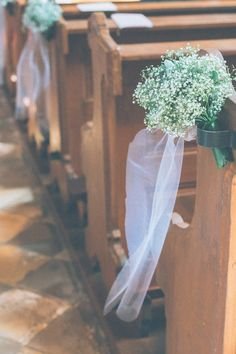 Gypsophila Aisle Flowers   Frau Hölle Studio Wedding   Cymbeline Wedding Dress   Jimmy Chor Bridal Shoes   Die Pflugsmuehle   Anija Schlichenmaier Photography   http://www.rockmywedding.co.uk/tanja-andreas/
