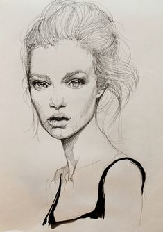 Fashion illustration watercolor face medium 51 new ideas Portrait Sketches, Drawing Sketches, Art Drawings, Drawing Ideas, Drawing Portraits, Art Visage, Watercolor Face, Fashion Sketches, Drawing Fashion