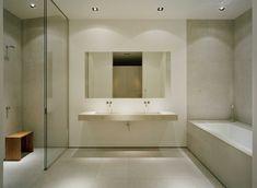 Nice simple shower with a touch of wood #minimalist #shower #bathroom \ Villa Abborrkroken i Överby by John Robert Nilsson Arkitektkontor \ Stockholm archipelago, Sweden