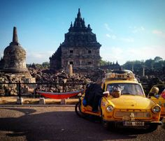 Sleeping in hammock between 800 years old Plaosan buddhist-hindu temple and 30 years old Trabant car :D / Spaní v hamace mezi 800 let starým buddhisticko-hinduistickým chrámem Plaosan a 30 let starým Trabantem :D by 30 Years Old, Year Old, Hindu Temple, Java, Hammock, Barcelona Cathedral, Sleep, Let It Be, Building