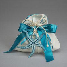 Ciondolo stella marina in ceramica di Capodimonte con sacco
