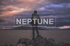 Neptune Font by Tosca Digital on Creative Market - Fonts - Populer Tattoo Pin Share New Fonts, Cool Fonts, Pretty Fonts, Creative Market Fonts, Street Art, Professional Fonts, Hand Drawn Fonts, Retro Font, Sans Serif Fonts