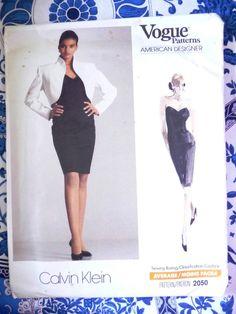 Vogue Pattern   2050       CALVIN KLEIN   -  Size 12-14-16     - Uncut