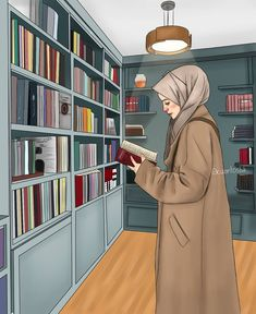 A scarf is the most essential portion within the apparel of girls with hijab. Since it is an essential item i Hijab Anime, Anime Muslim, Muslim Girls, Muslim Couples, Girl Cartoon, Cartoon Art, Tmblr Girl, Hijab Drawing, Islamic Cartoon