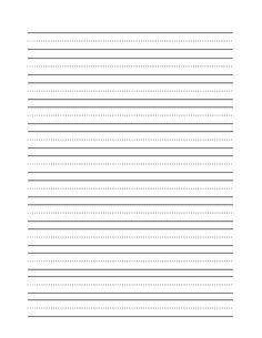 template for paper with lines for writing | Clip Art of a Blank Practice Writing Paper