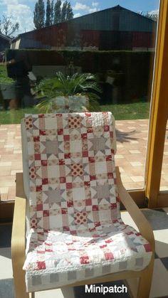Tilda Sweet Heart, un joli plaid pour mon fauteuil suédois....