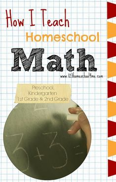 ❤ How I Teach Homeschool Math ❤ to Preschool, Kindergarten, 1st grade, and 2nd grade. You will find our favorite curriculum, how we plan our day, lots of free printables, our favorite math manipulatives, and so much more!