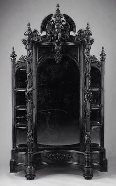 10 gorgeous gothic furniture set for your living room goth homes op quot;in love with this vanity and bookcase from ravencountess goth gothhomedecor gothhomedecorating gothaesthetic gothdecor gothic quot; Victorian Furniture, Antique Furniture, Furniture Decor, Black Furniture, Bedroom Furniture, Bedroom Decor, Wooden Furniture, Furniture Sets, Furniture Websites